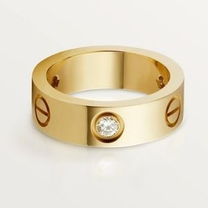 NEW Screw Ring 18k Gold Filled and CZ Stones
